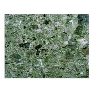 Modelo de piedra de mármol verde retro de la textu tarjeta postal