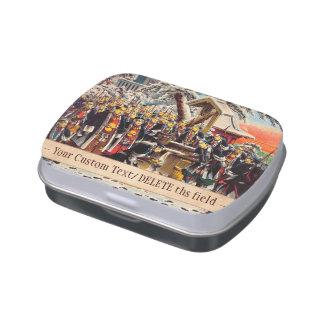 Modelo de pintura histórico clásico de Japón Bushi Frascos De Caramelos