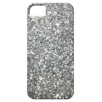 """Modelo """"de plata"""" blanco y negro del granito iPhone 5 Case-Mate cárcasa"""