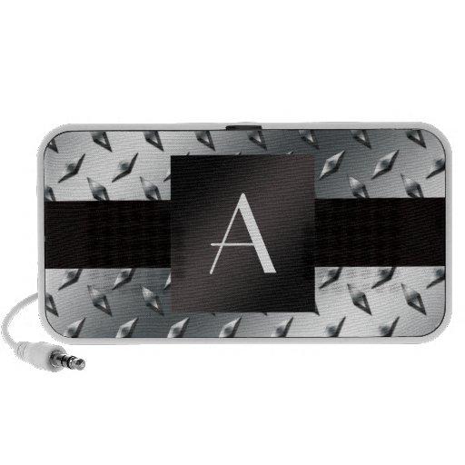 Modelo de plata de la placa de acero del diamante  iPod altavoz