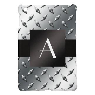 Modelo de plata de la placa de acero del diamante iPad mini cárcasas