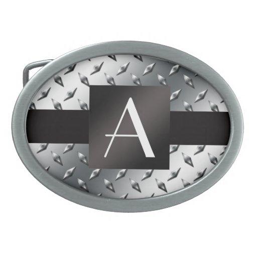 Modelo de plata de la placa de acero del diamante  hebillas cinturón