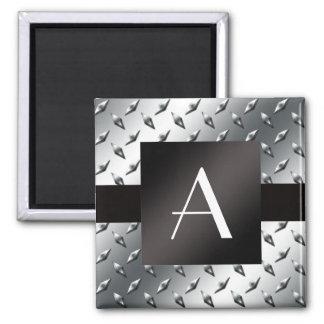 Modelo de plata de la placa de acero del diamante  imán cuadrado