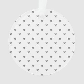Modelo de plata de los corazones del brillo