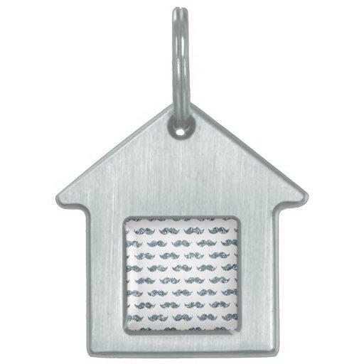 Modelo de plata del bigote del brillo impreso placas mascota