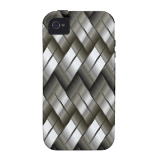 Modelo de plata del metal Case-Mate iPhone 4 funda