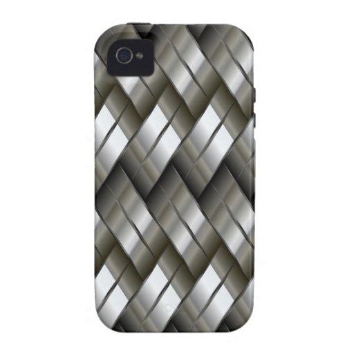 Modelo de plata del metal iPhone 4/4S funda