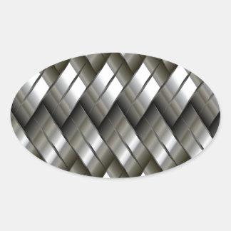 Modelo de plata del metal calcomanía de óval