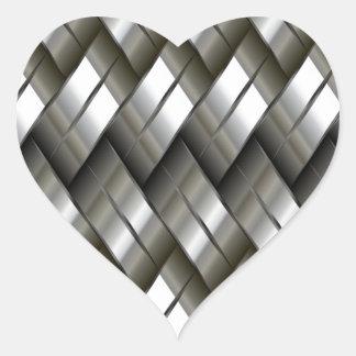 Modelo de plata del metal colcomanias corazon personalizadas