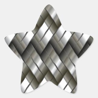 Modelo de plata del metal calcomanía forma de estrellae