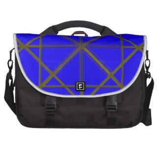 Modelo de plata y azul del alambre bolsas para ordenador