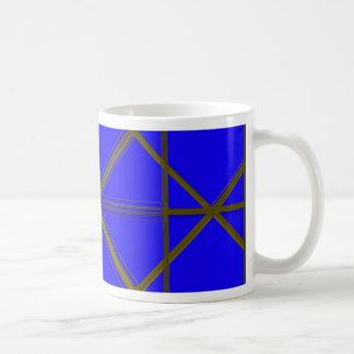 Modelo de plata y azul del alambre taza de café
