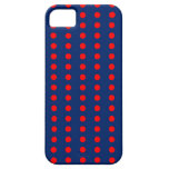 Modelo de Polkadot del azul real y del rojo iPhone 5 Cárcasas