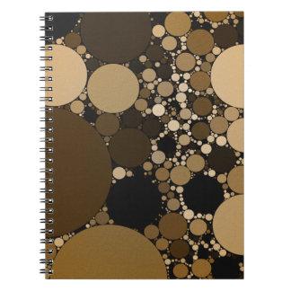 Modelo de Polkadot del chocolate Notebook