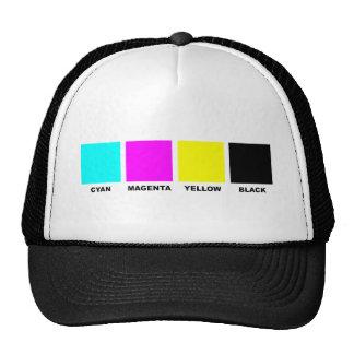 Modelo de proceso de color de CMYK cuatro Gorras