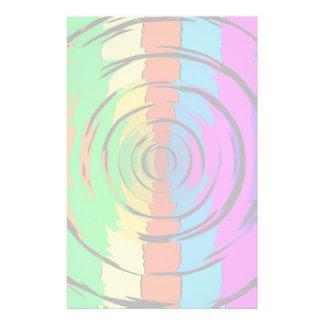 Modelo de prueba del arco iris papelería personalizada