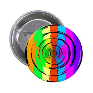 Modelo de prueba del arco iris pin redondo de 2 pulgadas