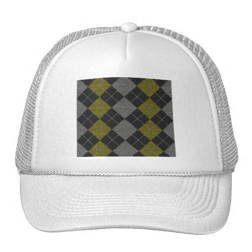 Modelo de punto amarillo y del gris de Argyle Gorro De Camionero
