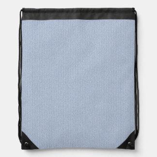 Modelo de punto azul claro de la puntada de mochilas