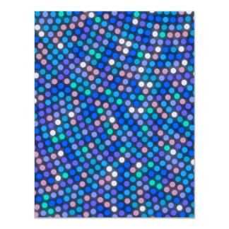"""Modelo de punto azul luminoso invitación 4.25"""" x 5.5"""""""