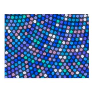 Modelo de punto azul luminoso postal