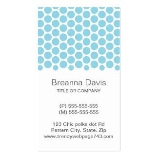Modelo de punto blanco azul claro moderno de los l plantilla de tarjeta de negocio