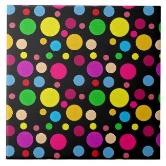 Modelo de punto colorido azulejo cuadrado grande