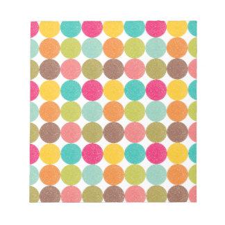 Modelo de punto colorido blocs de notas