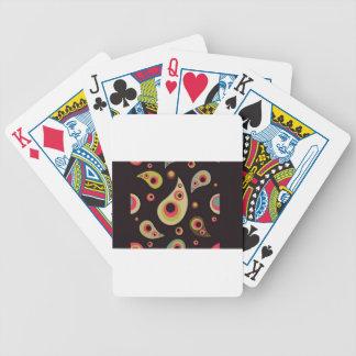 Modelo de punto de la pera baraja cartas de poker