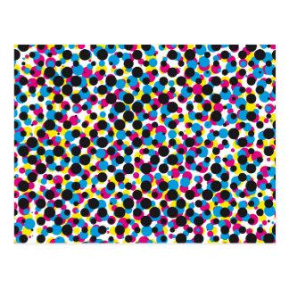 modelo de punto de semitono abstracto de CMYK, Postal