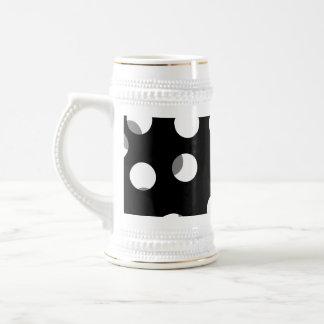 Modelo de punto gris blanco y negro tazas