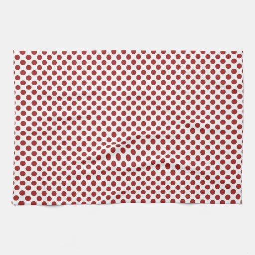 Modelo de punto rojo intrépido toallas de cocina
