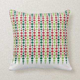 Modelo de punto rojo y verde cojín decorativo