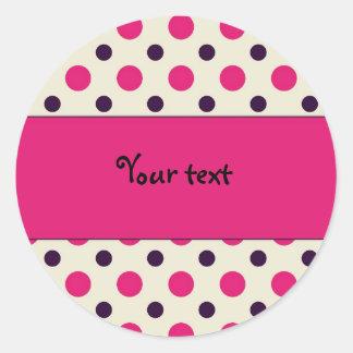 Modelo de punto rosado - TBA Etiquetas Redondas