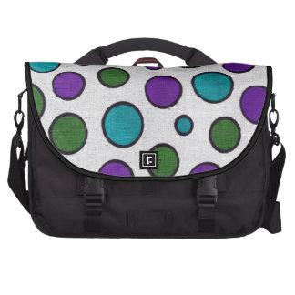 modelo de puntos colorido bolsas de portátil