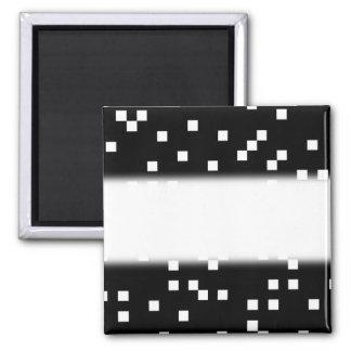 Modelo de puntos cuadrado blanco y negro imán cuadrado