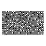 Modelo de puntos cuadrado gris, blanco y negro plantilla de tarjeta personal