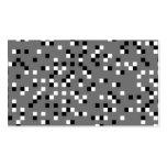 Modelo de puntos cuadrado gris, blanco y negro plantillas de tarjetas personales