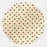 Modelo de puntos del navidad etiqueta redonda