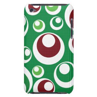 Modelo de puntos festivo rojo verde de los círculo Case-Mate iPod touch cobertura