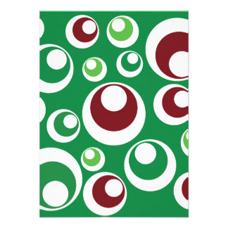 Modelo de puntos festivo rojo verde de los círculo anuncios personalizados
