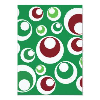 Modelo de puntos festivo rojo verde de los anuncios personalizados