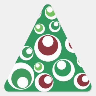 Modelo de puntos festivo rojo verde de los calcomania de triangulo