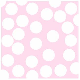 Modelo de puntos grande. Palidezca - rosa y blanco Fotoescultura Vertical