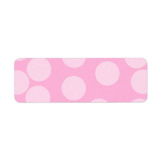 Modelo de puntos grande Palidezca - rosa y rosa d Etiquetas De Remite
