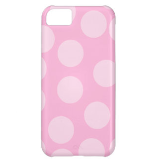 Modelo de puntos grande. Palidezca - rosa y rosa d Funda Para iPhone 5C