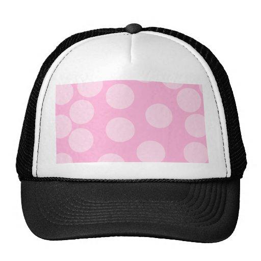 Modelo de puntos grande. Palidezca - rosa y rosa d Gorra