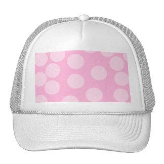 Modelo de puntos grande. Palidezca - rosa y rosa d Gorro De Camionero