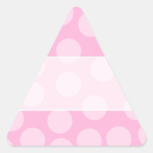 Modelo de puntos grande. Palidezca - rosa y rosa Pegatina Triangular