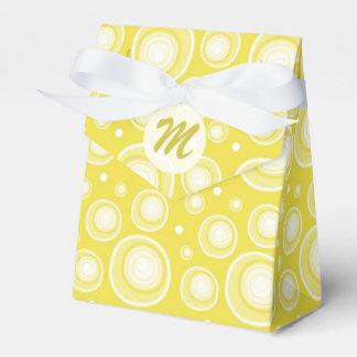 Modelo de puntos retro fresco: Amarillo Cajas Para Regalos De Fiestas